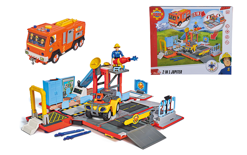 NEU: Feuerwehrmann Sam 2in1 Jupiter_2