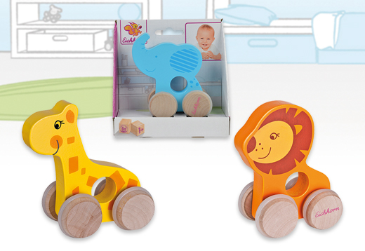 Animales de madera con ruedas, 3 modelos_1