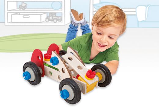 Set coches de construcción madera 50 piezas_1