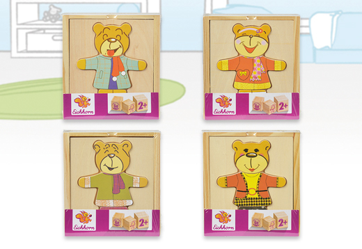 Puzzle madera oso vísteme, 4 modelos_1
