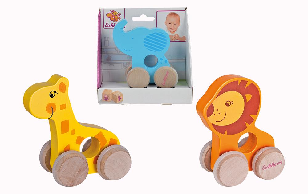 Animales de madera con ruedas, 3 modelos_2
