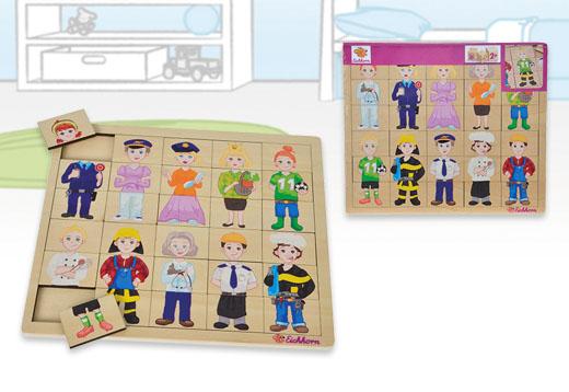 Puzzle encajables de madera profesiones, 30 piezas_1