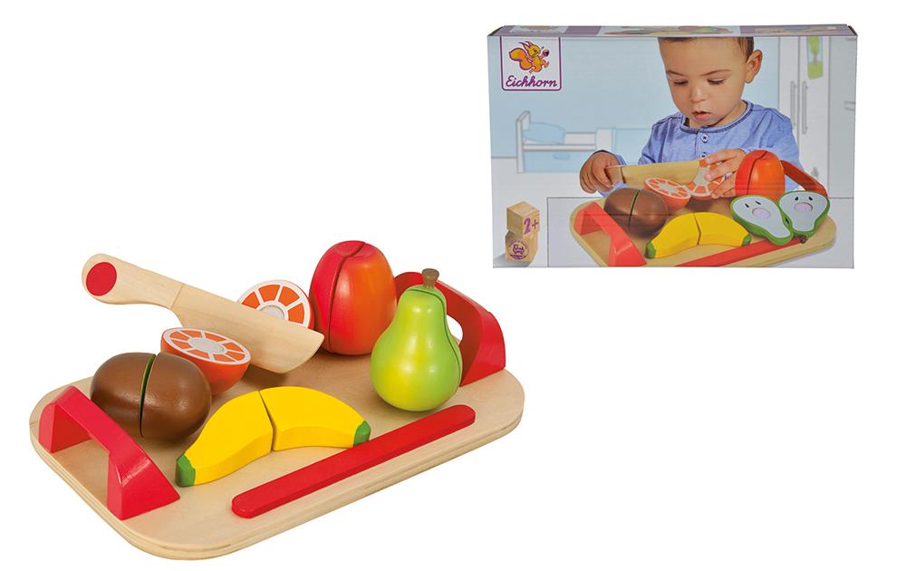 Tabla de madera corte frutas 12 piezas_2
