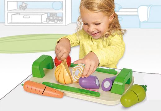 Tabla de madera corte verduras 12 piezas_1
