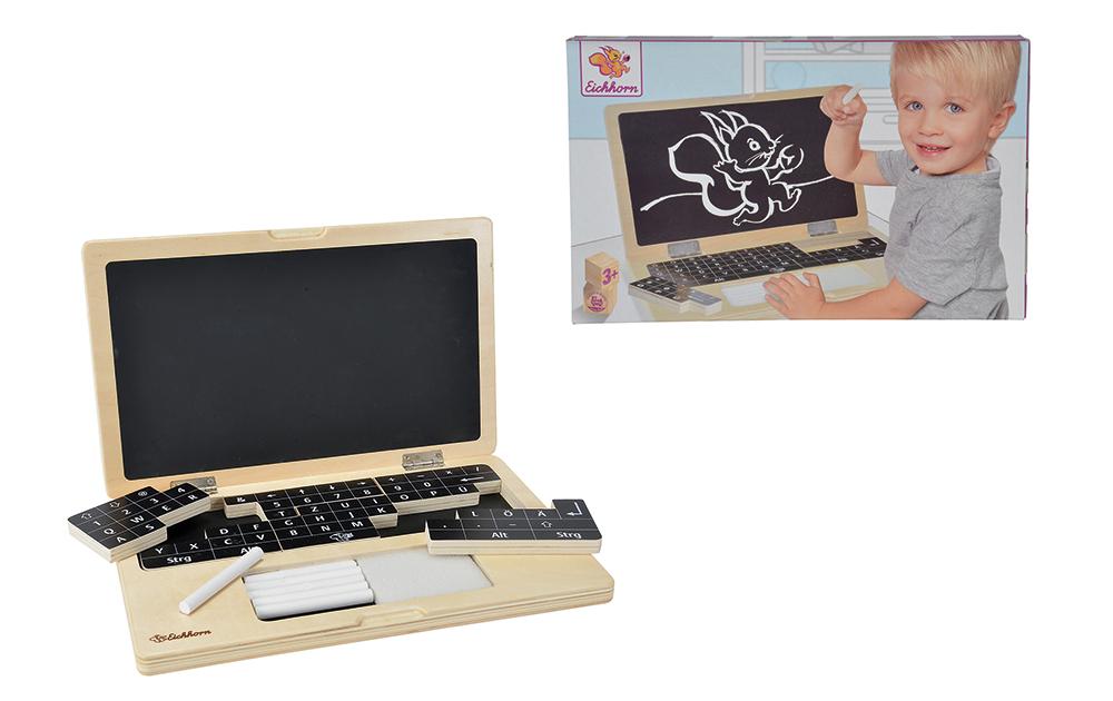 Ordenador portátil de madera con puzzle_2
