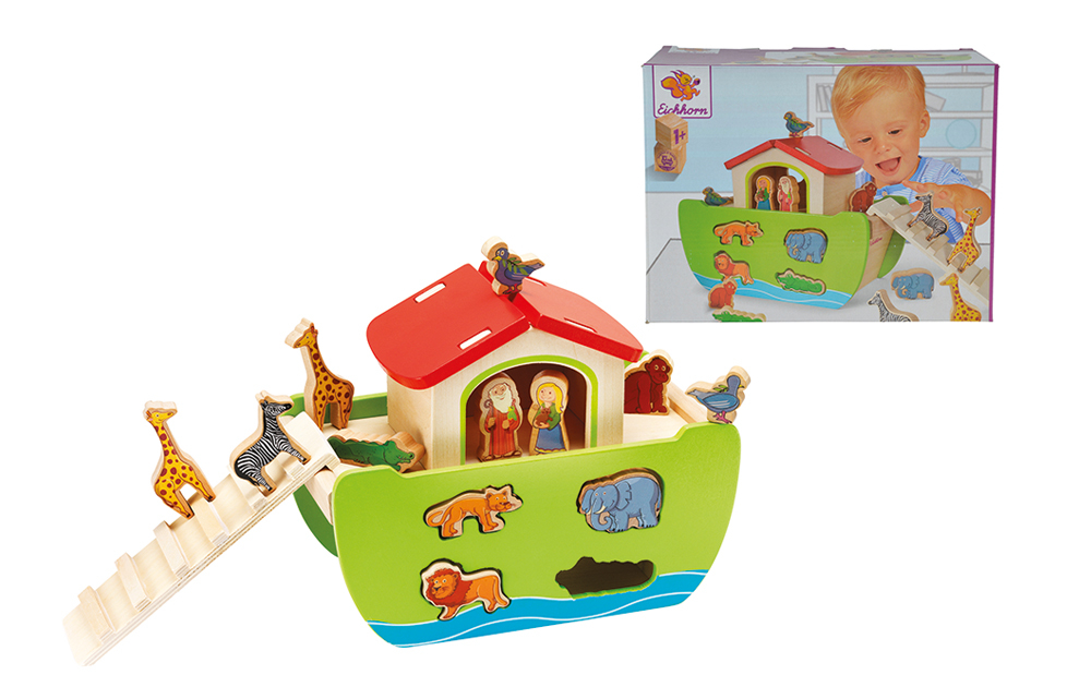 Arca de madera con figuras encajables_2