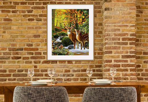 Hirsche im Wald_1