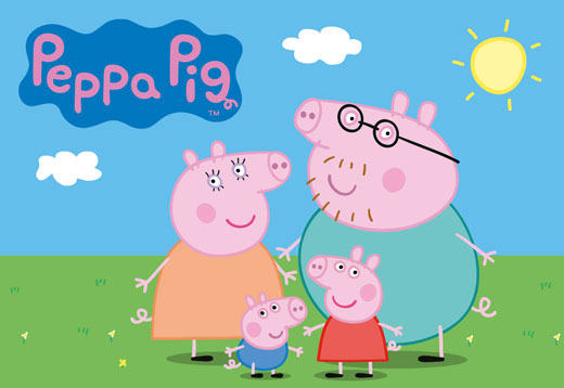 Peppa Pig-Puzzle Holz-Eichhorn