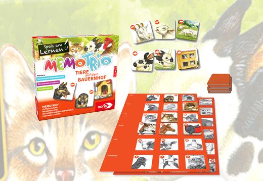 MemoTrio Tiere auf dem Bauernhof_1