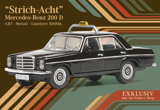 Schuco Modellauto-Mercedes Benz 200 Taxi