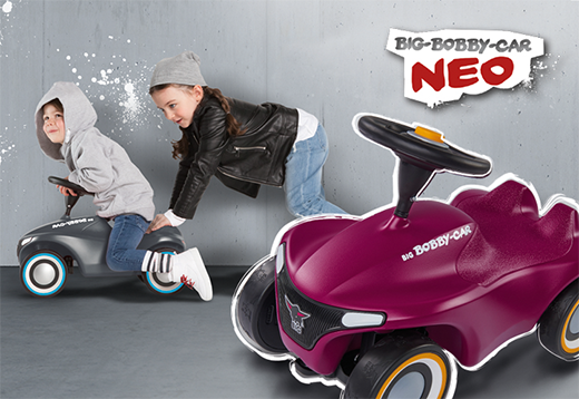 BIG Bobby Car NEO Anthrazit & Aubergine_1