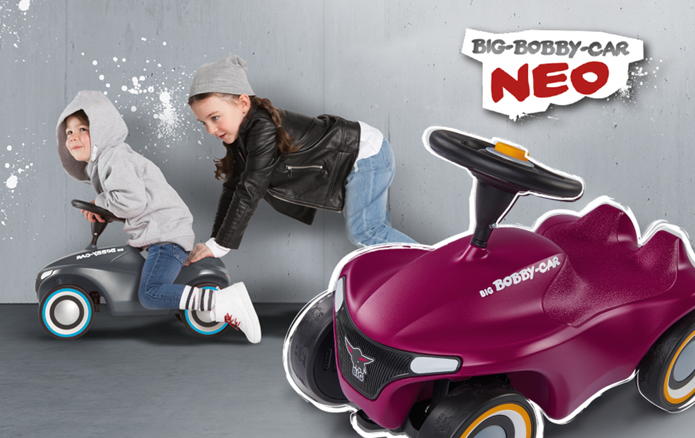 BIG Bobby Car NEO Anthrazit & Aubergine_2