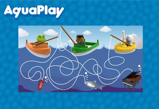 Aquaplay-wer fängt den Fisch