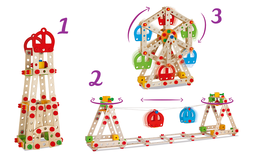 Eichhorn-Constructor-Riesenrad-Holzspielzeug