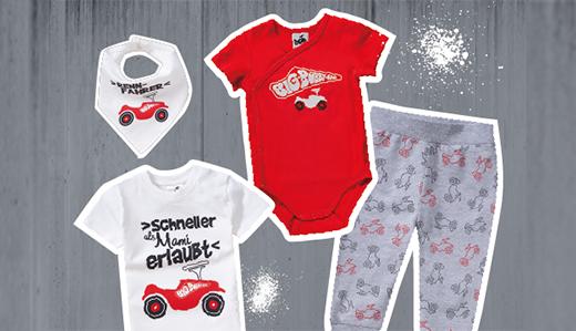 BIG-Bobby-Car - Lizenz-Motive auf Kinderkleidung