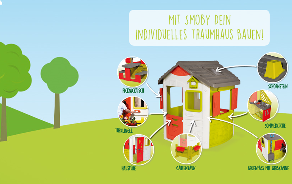 Smoby-Traumhaus bauen