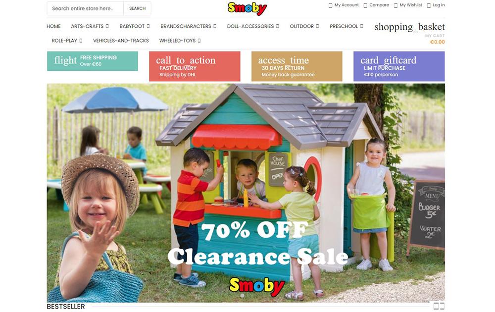 Smoby-Fake Website