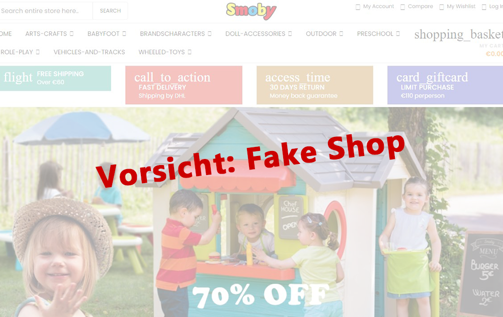 Smoby Toys-Fake Shop News