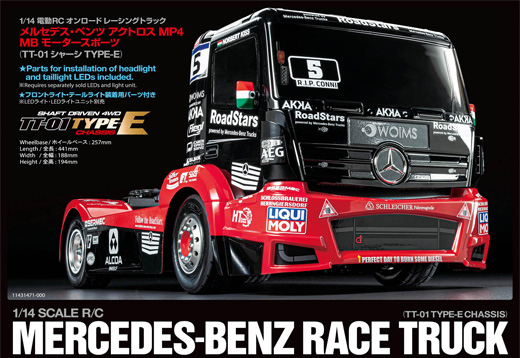 1/14 RC M-B Race Truck Actros MP4 TT-01E_1