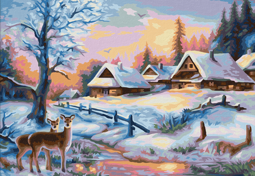 Schipper-Malen nach Zahlen-Winterlandschaft Vorschau