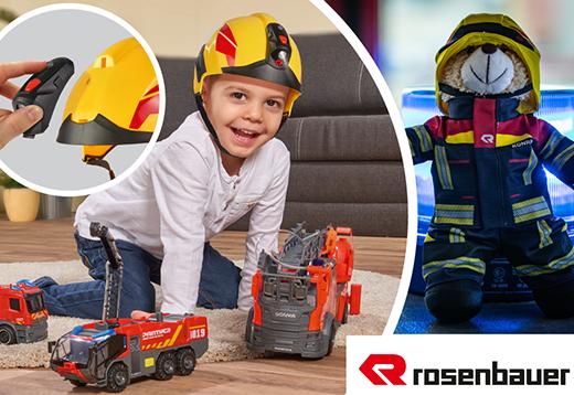 Rosenbauer Feuerwehrhelm & Teddy_1