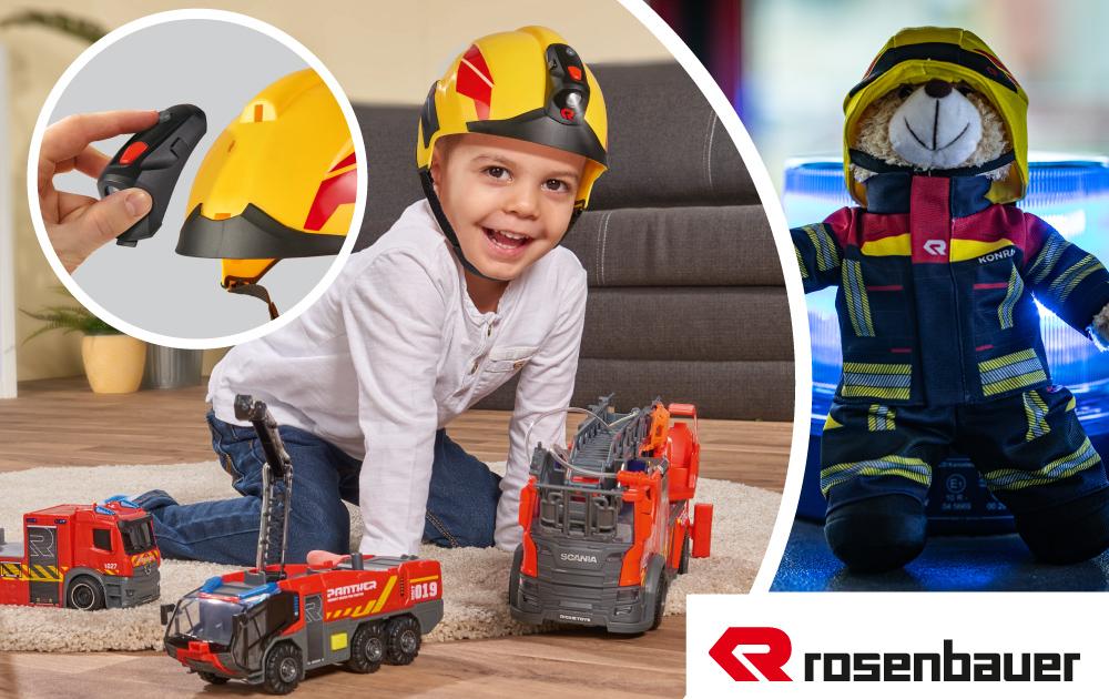 Rosenbauer Feuerwehrhelm & Teddy_2