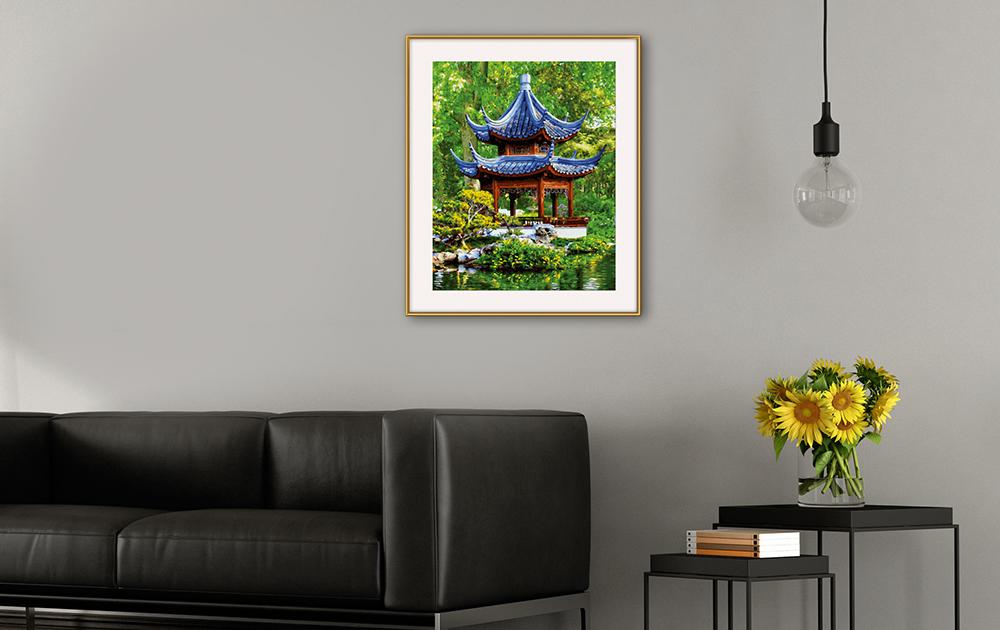 Pagode im japanischen Garten_2
