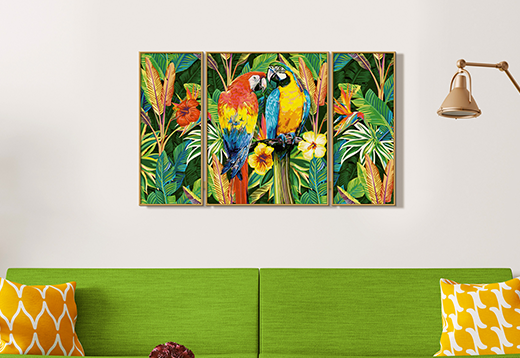 Schipper-Papageien im Regenwald-Vorschau