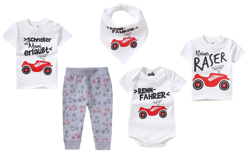 Des motifs BIG-Bobby-Car sous licence dorénavant sur les vêtements d'enfants